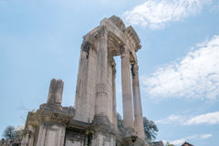 Temple of Vesta. Site for the Sacred Fire tended by the Vestal Virgins Royalty Free Stock Photography