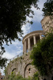 The temple of vesta in tivoli Royalty Free Stock Photography