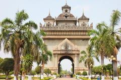 Temple in Vientiane, Laos. Stock Image