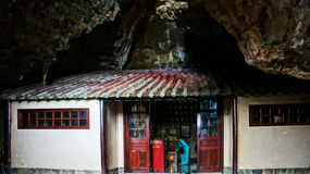 Temple in Vietnam cave Royalty Free Stock Image