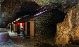 Temple in Vietnam cave stock image