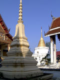 Chedis at Thai temple stock image