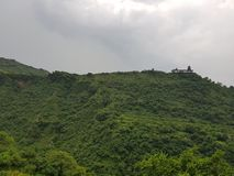 Temple view from Vaishno Devi. Top temple view from Vaishno Devi road stock photography