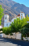 Temple in the village in Greece Stock Photo