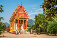 Temple. In Village Vang Vieng Royalty Free Stock Images