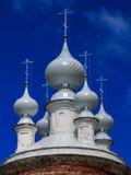 Temple in the village Vassilyevskoe. Fragment Stock Photos