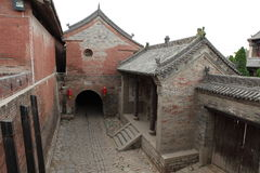 The Temple Village of Zhangbi Cun Stock Images