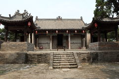 The Temple Village of Zhangbi Cun Stock Photo
