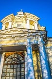 The Temple of the Vladimir Icon of the Mother of God in the estate Vinogradovo. Royalty Free Stock Photography
