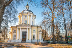 The Temple of the Vladimir Icon of the Mother of God in the estate Vinogradovo. Royalty Free Stock Photos