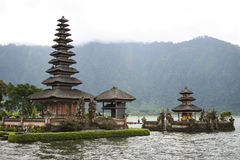 Temple volcano carter lake bali Pura Ulu Danau Royalty Free Stock Photos