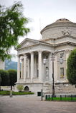 Temple Volta in Como. Temple Volta, constructed in commemoration of electric battery inventor, Alessandro Volta, in Como Italy Royalty Free Stock Photos