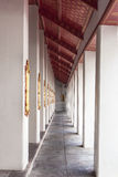 Temple walkway Royalty Free Stock Photography