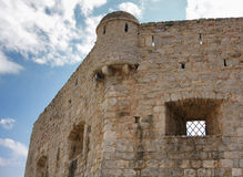 Temple wall at Budva old city Royalty Free Stock Photo