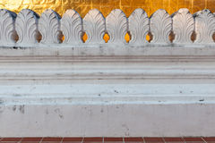 Temple wall. An isolated temple wall on an evening time Stock Photography