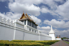 The temple wall thailand Stock Photography