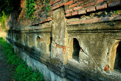 Temple walls. The Arts architectural elements that must be met first before entering into any Buddhist. With an architecture that serves as the entrance of the royalty free stock photos