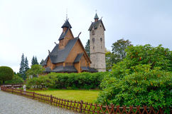 Temple Wang in Karpacz, Poland. Royalty Free Stock Images