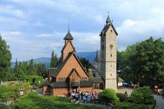 Temple Wang in Karpacz, Poland Stock Image