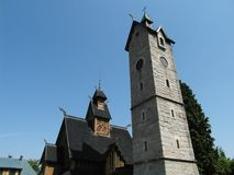 Temple Wang - Poland. Wonderful place in southern Poland. Very old Stock Image