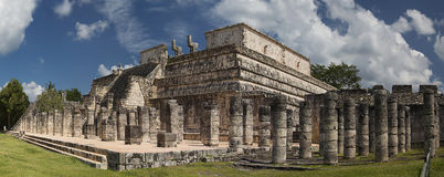 Temple of Warriors, Chichen-Itzá. Temple of Warrors in Chichen-Itzá, Mexico stock images