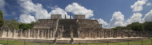 Temple of Warriors, Chichen-Itzá. Temple of Warrors in Chichen-Itzá, Mexico Stock Photography