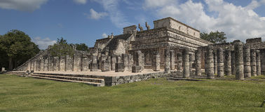 Temple of Warriors, Chichen-Itzá Stock Photos