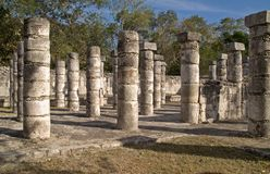 Temple of the Warriors, Chichen Itza Royalty Free Stock Image