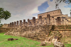 Temple of the Warriors in Chichen Itza Stock Photos