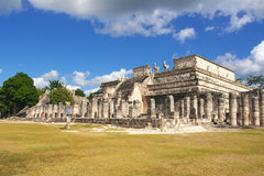 Temple of warriors, Chichen-Itza. Maya culture royalty free stock photo