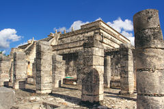 Temple of warriors, Chichen-Itza. Maya culture royalty free stock images