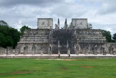 Temple of the Warriors in Chichen Itza Stock Photo