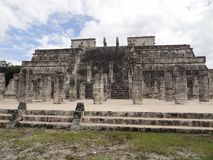 Temple of the Warriors in Chichen Itza Stock Images