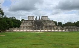 Temple of the Warriors in Chichen Itza Royalty Free Stock Photography