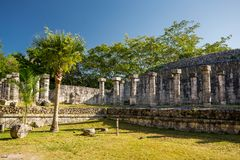Temple of the Warriors. Chichen Itza archaeological site, Yucatan peninsula, Mexico. Stock Images
