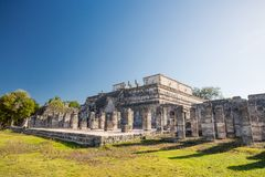 Temple of the Warriors . Chichen Itza archaeological site, Yucatan peninsula, Mexico. Stock Photos
