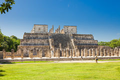 Temple of the Warriors in Chichen Itza complex, Yucatan, Mexico Royalty Free Stock Image