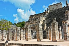 Temple of the Thousand Warriors - Chichen Itza Royalty Free Stock Photography