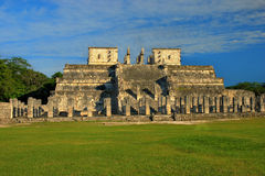 Temple of the Warriors. Chichen Itza, Mexico. Temple of the Warriors in Chichen Itza, Quintana Roo, Mexico. Mayan ruins  near Cancun Stock Image
