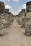 Temple of the Warriors at Chichen Itza in Mexico Stock Photo