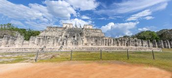 Temple of Warriors,Chichen Itza - Mexico Stock Photo