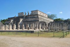 Temple of the warriors at Chichen Itza Stock Photo