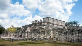 Temple of the Warriors - Chichen Itza, Mexico Stock Photo