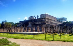 Temple warriors. Chichen itza Royalty Free Stock Photo