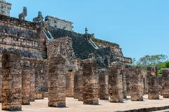 Temple of the Warriors at Chichen Itza, Yucatan, Mexico Royalty Free Stock Photography