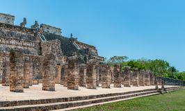 Temple of the Warriors at Chichen Itza, Yucatan Royalty Free Stock Image