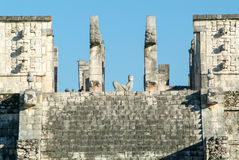 Temple of the Warriors at Chichen Itza, Yucatan, Mexico Royalty Free Stock Images