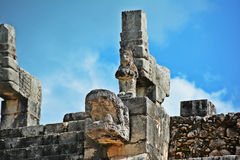 Temple of the warriors detail, Chichen Itza Stock Photos