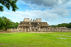 Temple of the Warriors in Mexico royalty free stock image