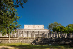 Temple of the Warriors Templo de los Guerreros. Chichen Itza archaeological site, Mexico Royalty Free Stock Image